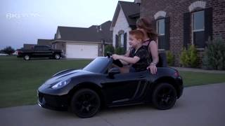 Giant 24 Volt Ride on Car with leather seat & Rubber Tires