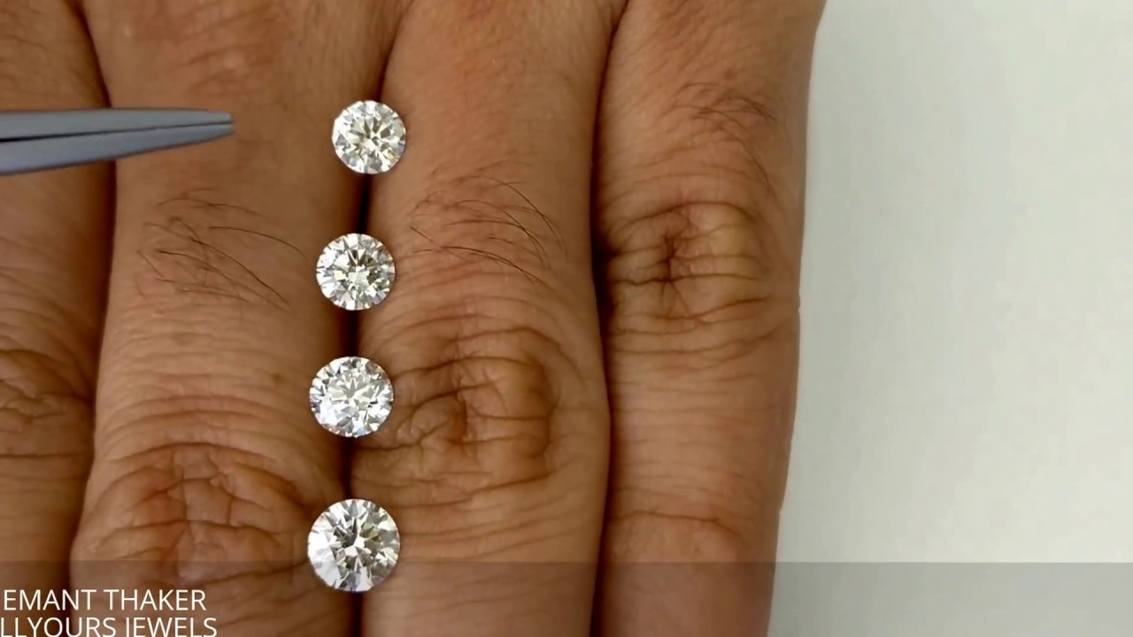 Round shape diamond size comparison with mm ct to cts also rh youtube