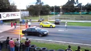 Piques tocancipa 2011 Audi S6 vs Honda civic turbotek