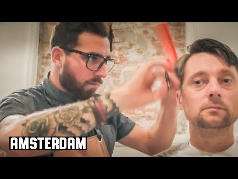 The Amsterdam Haircut - HairCut Harry Experiences Cut Throat Barber and Coffee Amsterdam Holland