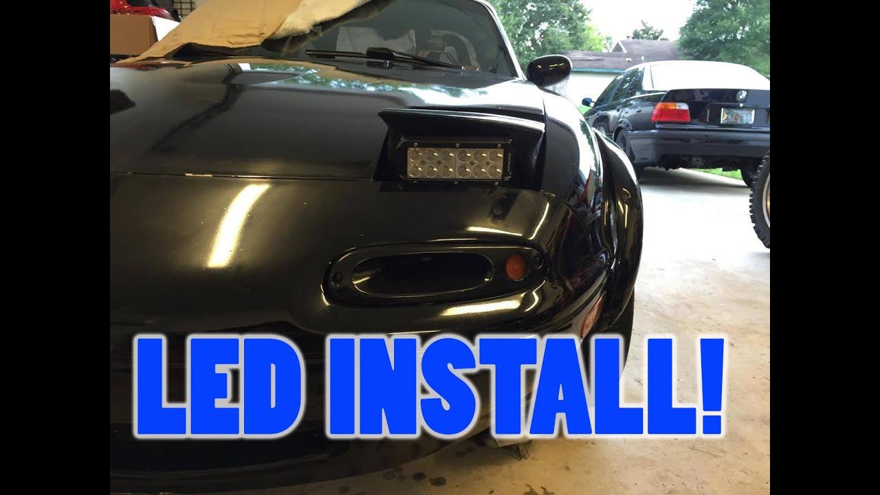 how to install led light bars as headlights on miata  [ 1280 x 720 Pixel ]