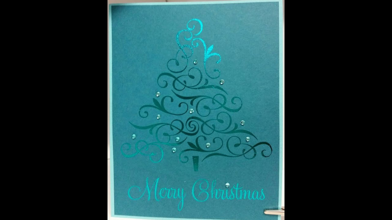 Laser Jet Printed and Foil Embossed Christmas Cards - YouTube