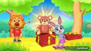 Learn write alphabet for kids with lion & funny bunny and colored shape for children  I   Z
