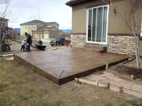 Stamped concrete installation Broomfield landscape contractor