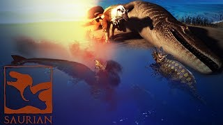 Saurian - Mosa Battles Trike In Ocean, Rex VS Mosa Outcome & More Updates! - Gameplay