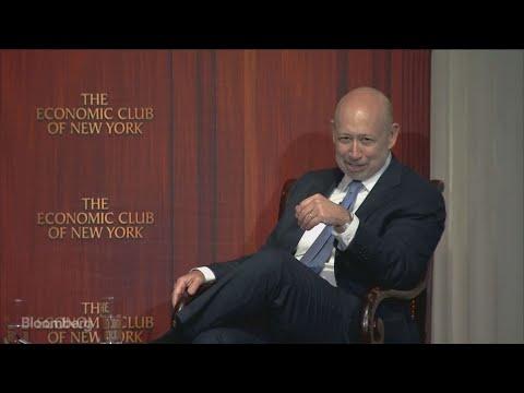 Goldman's Blankfein Talks Trade, Credit Markets and Bitcoin