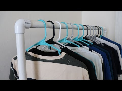 DIY: How To Make A Clothes Rack Under $20 With PVC Pipe