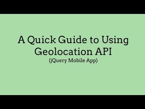 A Quick Guide to Using Geolocation API (jQuery Mobile App)