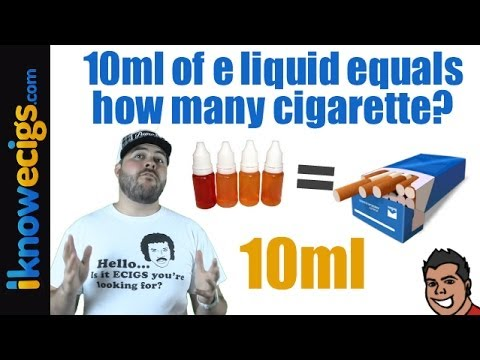 10ml Of Liquid Equal How Many Cigarettes