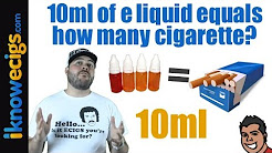Q & A:  10ml of E liquid equal how many cigarettes?