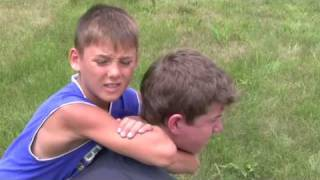 """http://www.TheAwristocrat.com) - Hunter """"The aMiNal"""" Colfack hunts bigger Prey by locking in and demonstrating a rear naked choke on his latest victim."""