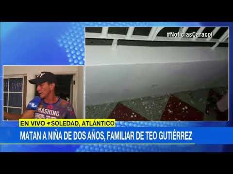 Sobrina de Teófilo Gutiérrez, de 2 años, murió por bala perdida en Atlántico