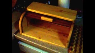 Roll Top Bread Box-first Video By Woodcut 2012