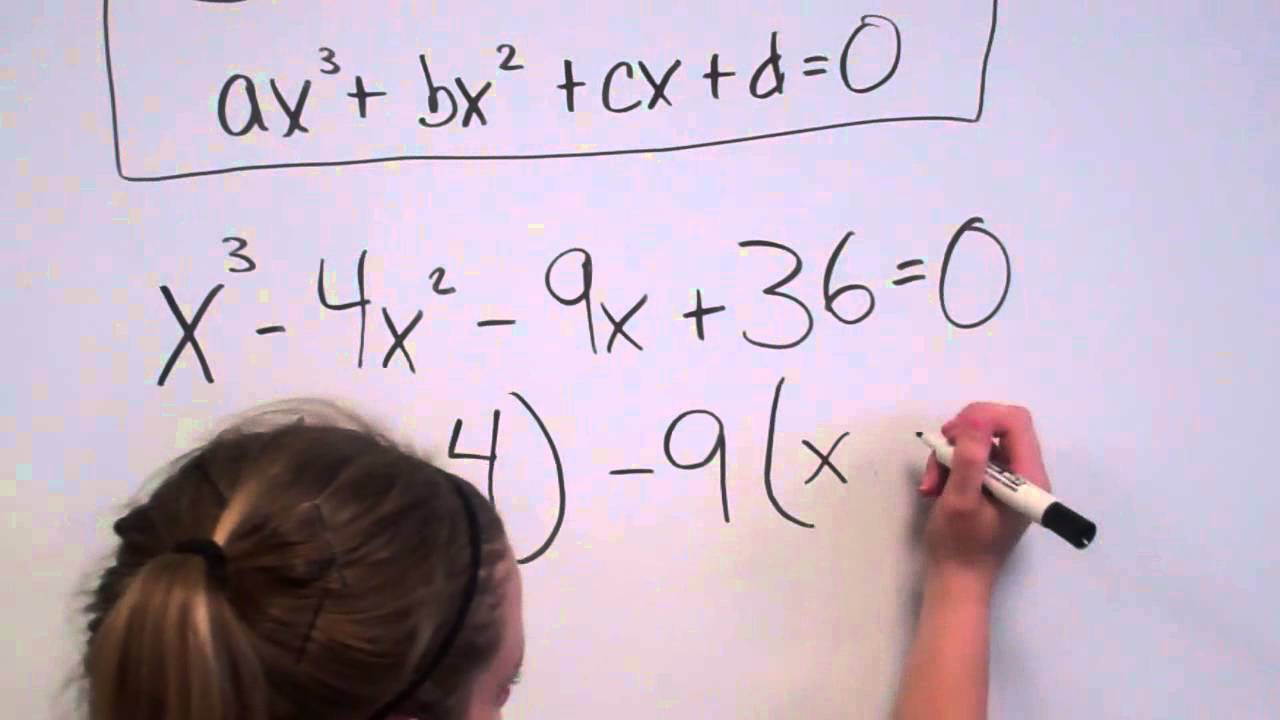 Solving Cubic Equations Factoring Youtube