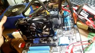How to start PC with Solid RED LED CPU Problem Part 1