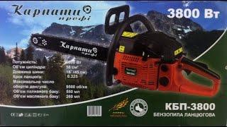 Обзор бензопилы Карпаты профи КБП-3800