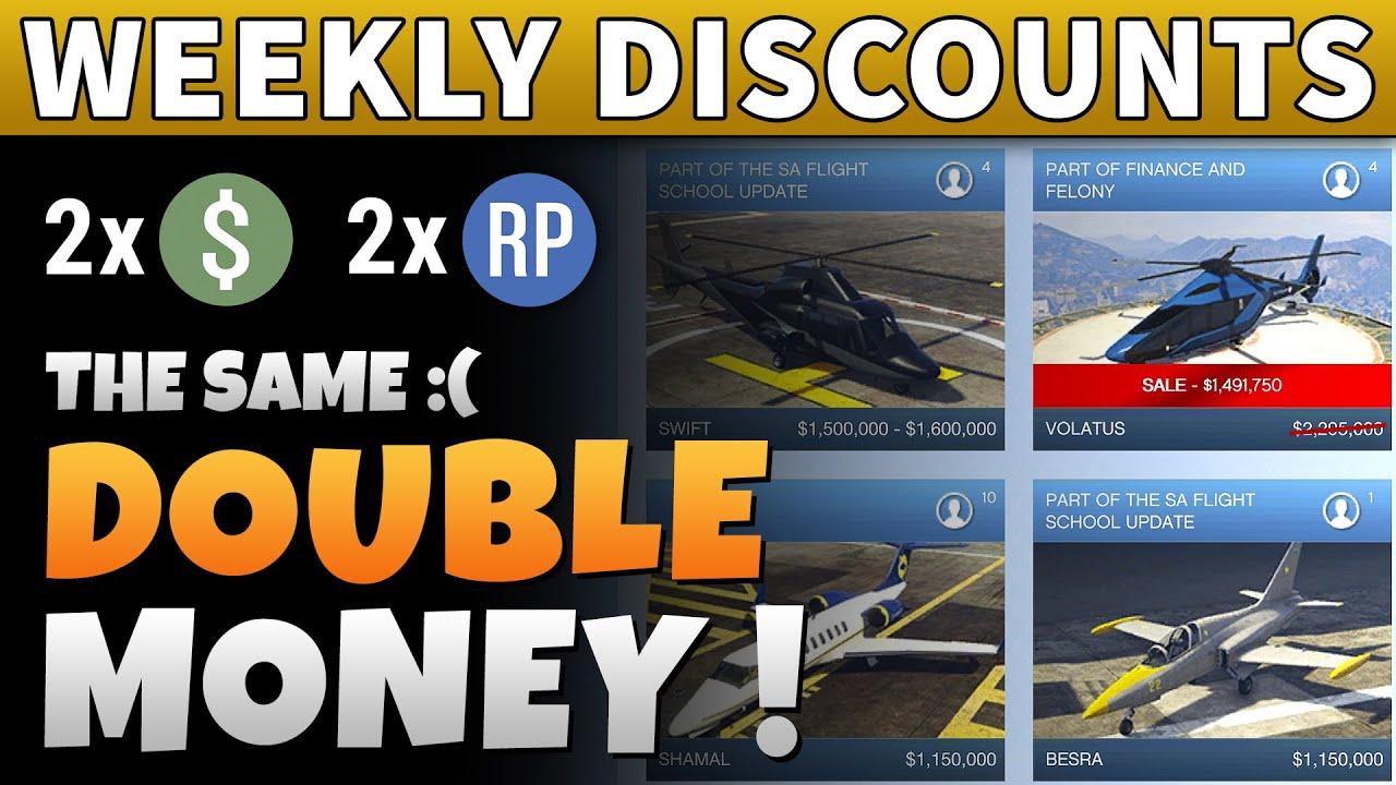 GTA Online DOUBLE MONEY & DISCOUNTS | GTA 5 Weekly Updates | NEW DLC COMING?