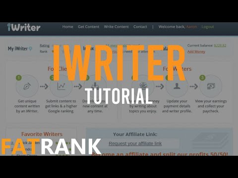 How To Use iWriter | FatRank Tutorial