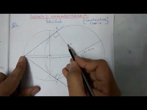 Chapter 11 Exercise 11.2 (Q1) Constructions of Maths class 10 NCERT