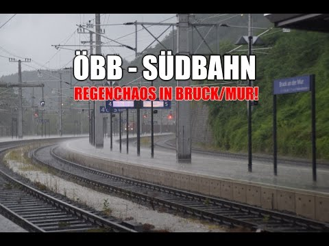 Zug um Zug - ÖBB Südbahn mit Regenchaos in Bruck/Mur