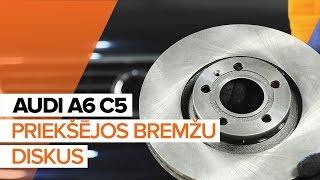 aizmugurē un priekšā Bremžu Kluči uzstādīšana AUDI A6 Avant (4B5, C5): bezmaksas video