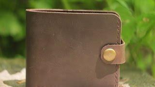 Мужской кожаный кошелек ручной работы VOILE vl-cw1-brn коричневый. Купить недорого - видео обзор