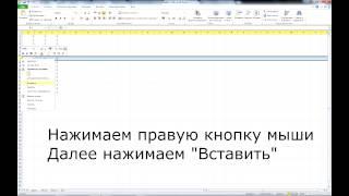 как в экселе вставить строку. Excel 2010,2007, 2003