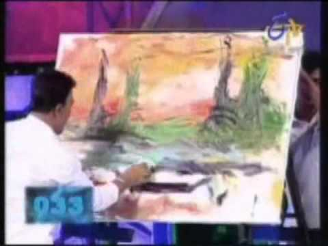 SPEED PAINTING in Indian Books of Records by Amazing Painter Rabin Bar