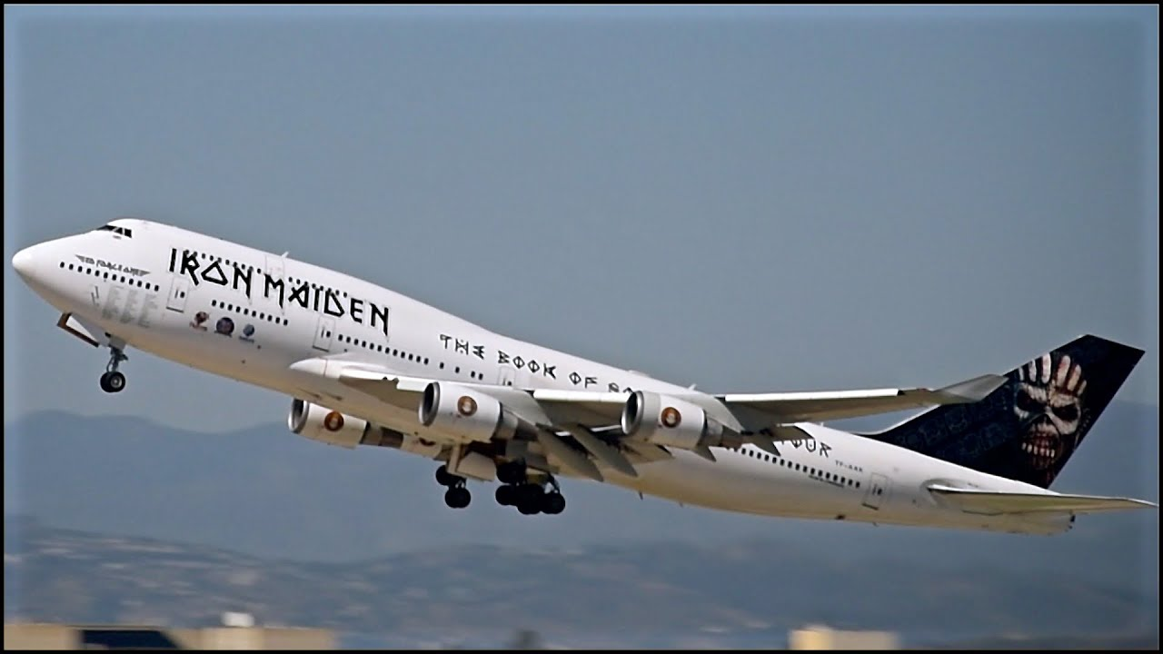 iron maiden 747 ed force one departing lax with atc youtube. Black Bedroom Furniture Sets. Home Design Ideas
