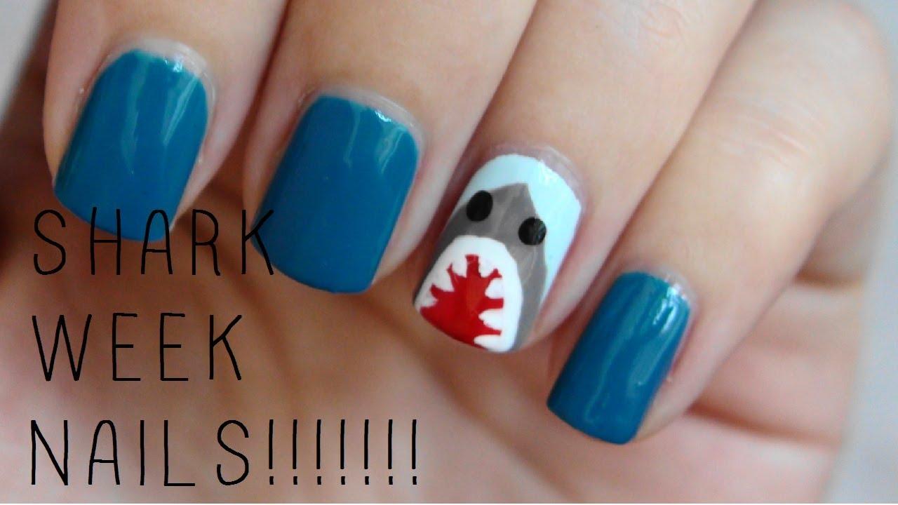 Shark Week Nails Youtube