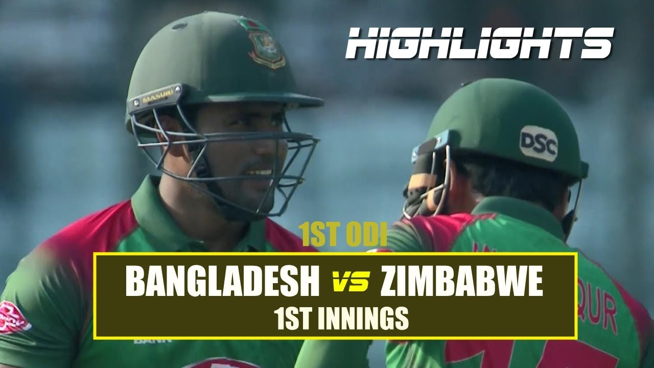 Bangladesh vs Zimbabwe Highlights || 1st ODI || 1st Innings || Zimbabwe tour of Bangladesh 2018