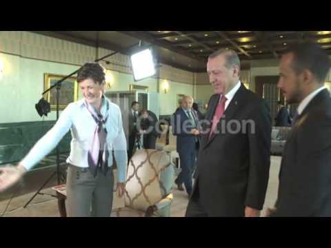 TURKISH PRESIDENT INTERVIEW-HAND SHAKE