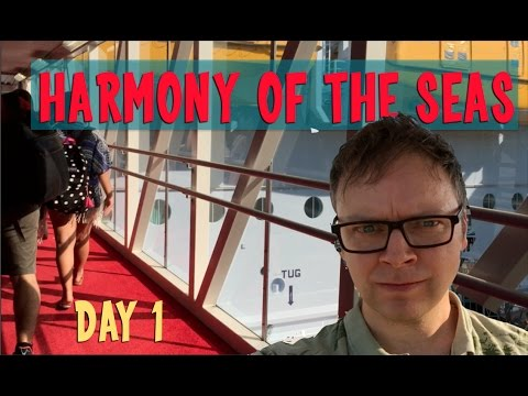 Boarding the Largest Cruise Ship in the World, Royal Caribbean Harmony of the Seas, Vlog Day 1