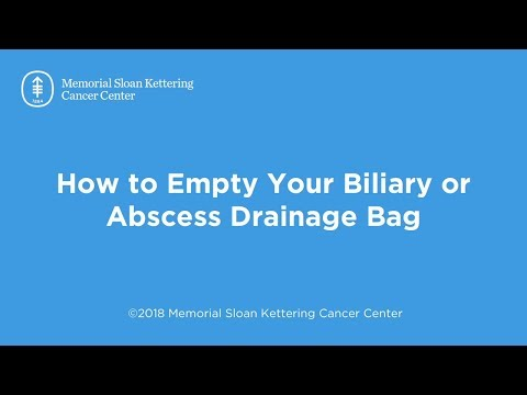 How to Empty Your Biliary or Abscess Drainage Bag