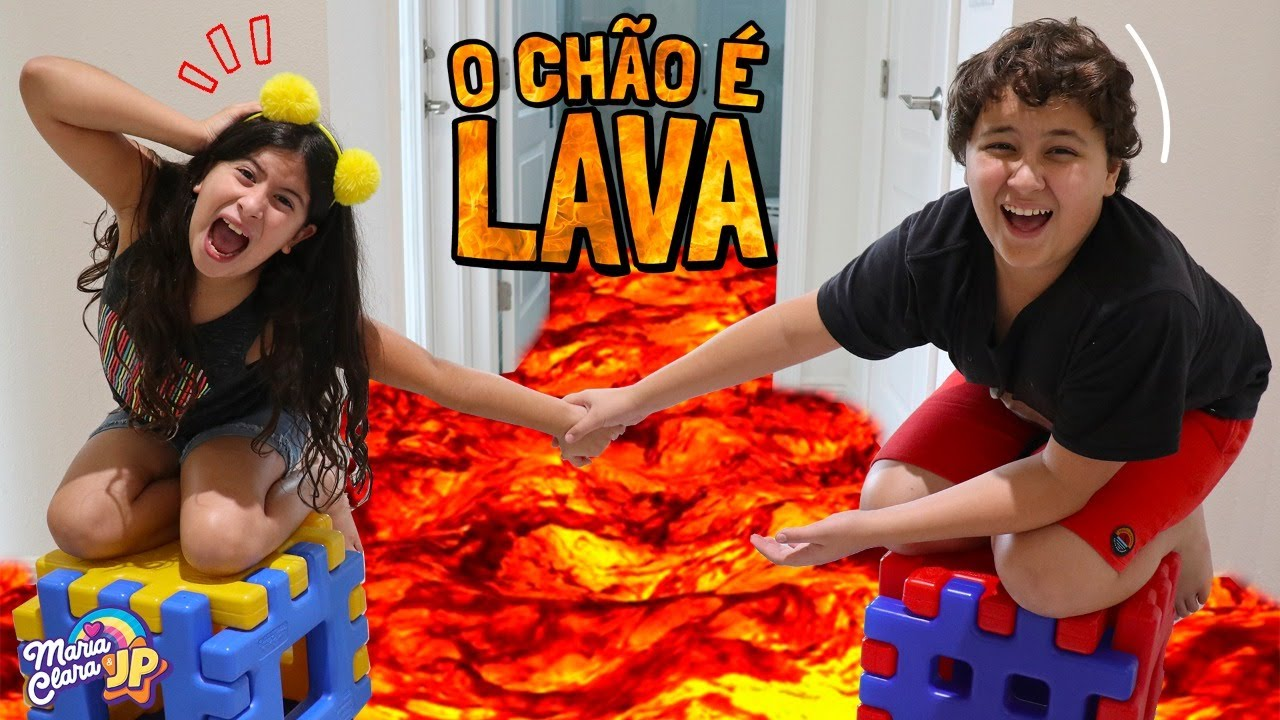 ♫ O CHÃO É LAVA 🔥 The Floor is Lava - Children Song by Maria Clara e JP