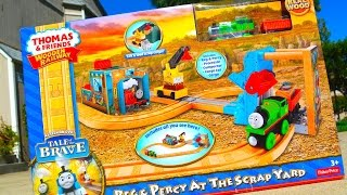 Thomas And Friends Reg & Percy At The Scrapyard 2014 Wooden Railway Toy Train Review