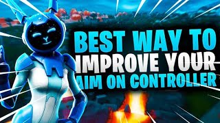 BEST Way to IMPROVE YOUR AIM on Controller in Fortnite Season 8 (NEW METHOD) ​~ Aim assist trick