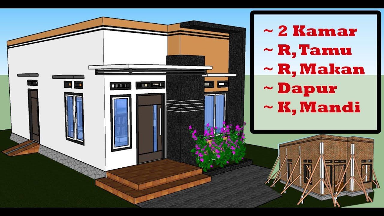 Desain Rumah Minimalis 4x8 Meter 2 Kamar Tidur - JDRG OFFICIAL - YouTube