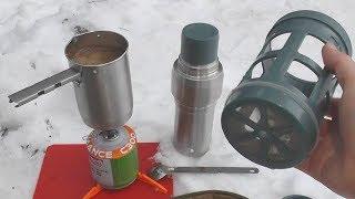 Термос Stanley с кофе-прессом и котелочком (Mountain Vacuum Coffee System 0.5L)