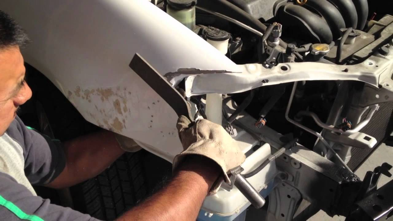 Repairing Car Front Fender Youtube