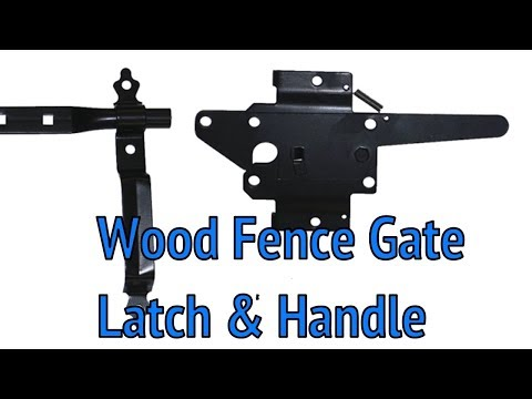 Wood Fence Gate Latch & Handle