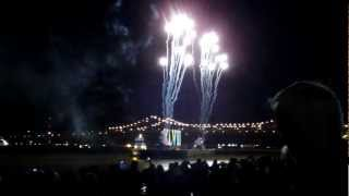 Super Bowl 47 Roman Numerals arrival & fireworks - Part 1 (Jan. 31st, 2013)