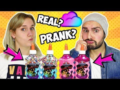 REAL vs. PRANK SLIME CHALLENGE Nina vs. Kaan   Wer mischt coolsten SCHLEIM & wer wurde geprankt?