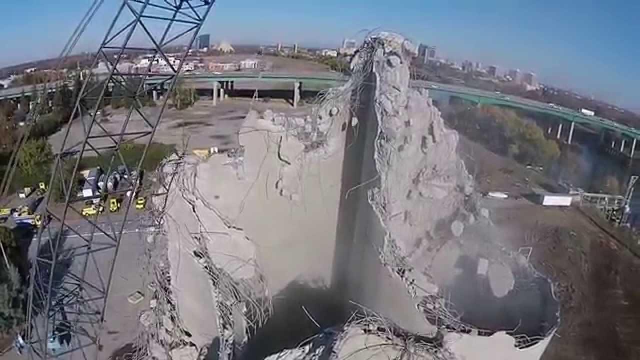 3 Silo Demolition : West sacramento cemex silo demolition youtube
