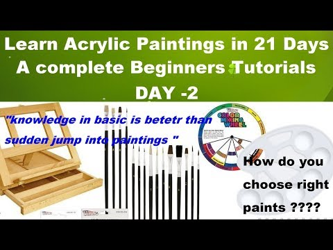 Acrylic painting for beginners -Learn easy acrylic paintings in 21 days ! #Day 2