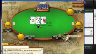 1 sit&go pokerstars (play money) + indie rock music