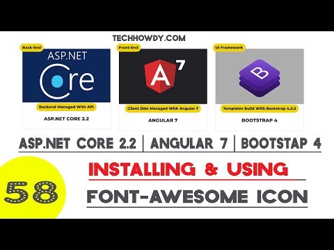 Angular 7 | Installing Font Awesome Icons Library - YouTube