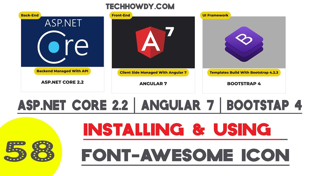 Angular 7 | Installing Font Awesome Icons Library