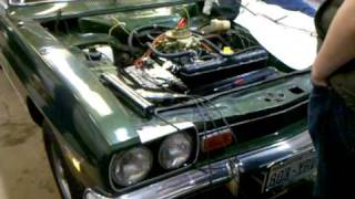 1972 Ford Capri 2.6 Cologne V6 first start after rebuild