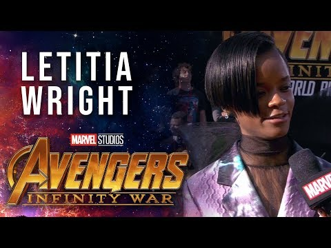 Letitia Wright Live from the Avengers: Infinity War Premiere